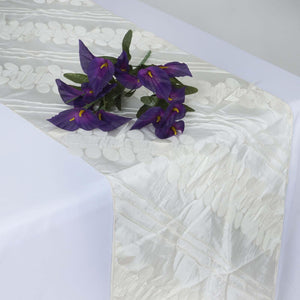 Paradise Forest Taffeta Table Runners - Ivory