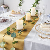 1Ft x 9Ft Gold Glitter Paper Table Runner Roll, Self Adhesive Disposable Table Runner
