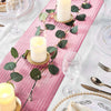 9Ft Glitter Paper Table Runner Roll, Disposable Table Runner with Circle Pattern- Rose Gold | Blush