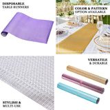 9Ft Glitzing Table Runner, Disposable Glitter Paper Table Runner with Circle Pattern - Rose Gold | Blush