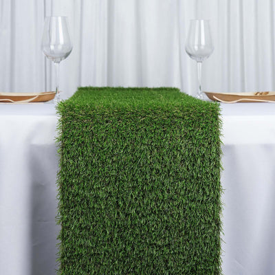 Elegant Wedding Party Artificial Grass Table Runner