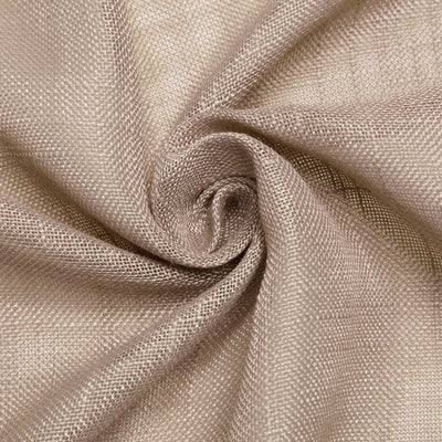 12x108 Taupe Linen Table Runner, Slubby Textured Wrinkle Resistant Table Runner