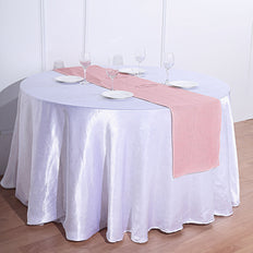 14x108 inch Dusty Rose Rustic Burlap Table Runner
