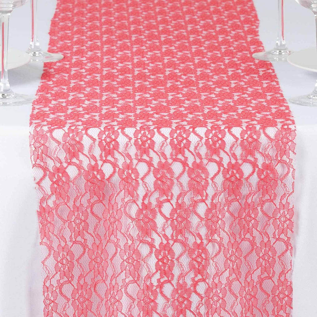 Floral Lace Runner Coral Tablecloths Factory