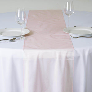 "14"" x 108"" Blush Organza Runner For Table Top Wedding Catering Party Decoration"