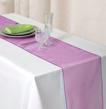 "14"" x 108"" Fushia Organza Runner For Table Top Wedding Catering Party Decoration"