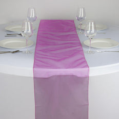 Table Runner Organza - Fushia