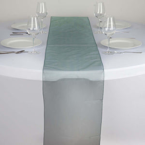 Table Runner Organza - Hunter Green