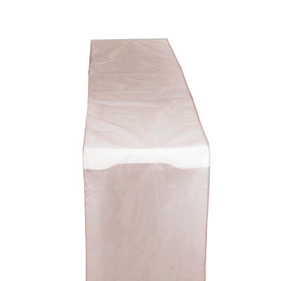 "14"" x 108"" Dusty Rose Organza Runner For Table Top Wedding Catering Party Decoration"