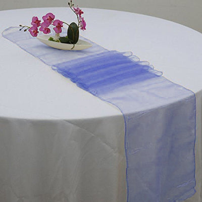 "14"" x 108"" Navy Blue Organza Runner For Table Top Wedding Catering Party Decoration"