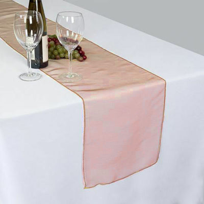 "14"" x 108"" Orange Organza Runner For Table Top Wedding Catering Party Decoration"