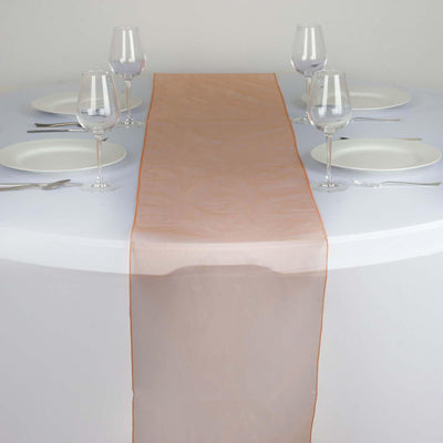 Table Runner Organza - Orange