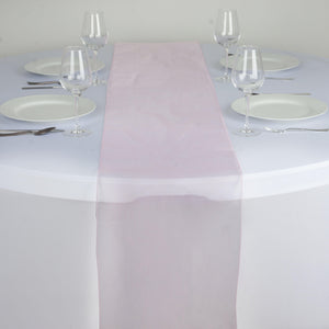 "14"" x 108"" Pink Organza Runner For Table Top Wedding Catering Party Decoration"