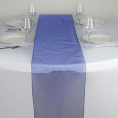 Table Runner Organza - Royal Blue