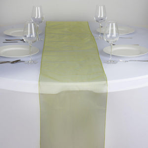Table Runner Organza - Sage Green