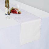"14"" x 108"" White Organza Runner For Table Top Wedding Catering Party Decoration"