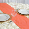 "12""x108"" Coral Polyester Table Runner"