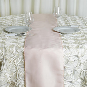 BLUSH Polyester Runner - Table Top Wedding Catering Party Decorations - 12x108""