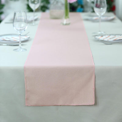 "12""x108"" Dusty Rose Polyester Table Runner"