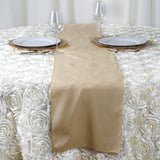 "12""x108"" Champagne Polyester Table Runner"