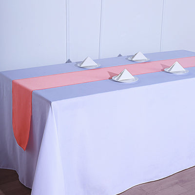 12x108 Coral Polyester Table Runner