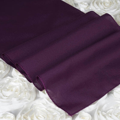 EGGPLANT Polyester Runner - Table Top Wedding Catering Party Decorations - 12x108""