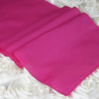 "FUSHIA Polyester Runner - Table Top Wedding Catering Party Decorations - 12x108""#whtbkgd"
