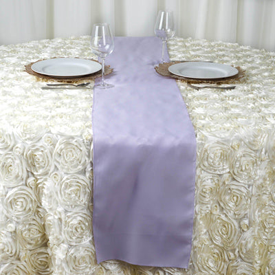 "12""x108"" Lavender Polyester Table Runner"