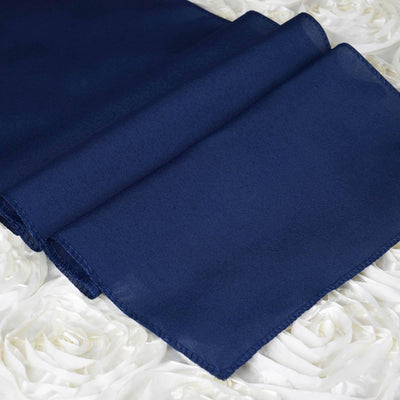 NAVY Polyester Runner - Table Top Wedding Catering Party Decorations - 12x108""