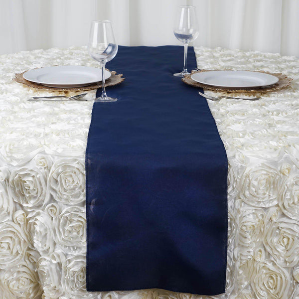 "12""x108"" Navy Blue Polyester Table Runner"
