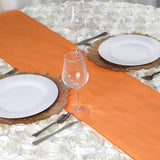 ORANGE Polyester Runner - Table Top Wedding Catering Party Decorations - 12x108""