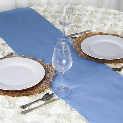 SERENITY Polyester Runner - Table Top Wedding Catering Party Decorations - 12x108""
