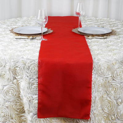 "12""x108"" Red Polyester Table Runner"