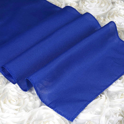 ROYAL BLUE Polyester Runner - Table Top Wedding Catering Party Decorations - 12x108""