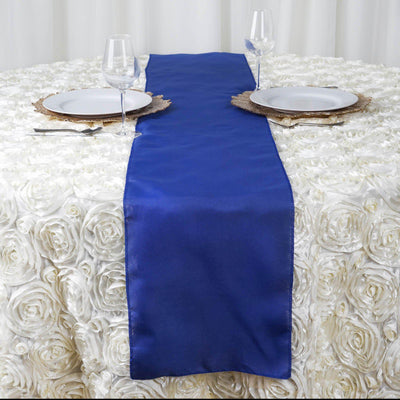 "12""x108"" Royal Blue Polyester Table Runner"