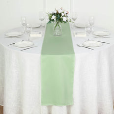 "12""x108"" Sage Green Polyester Table Runner"