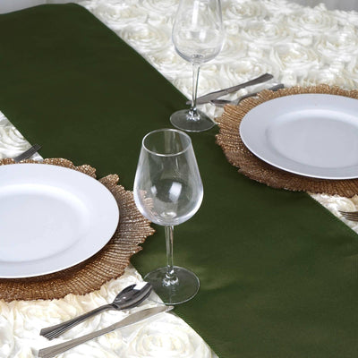 WILLOW GREEN Polyester Runner - Table Top Wedding Catering Party Decorations - 12x108""