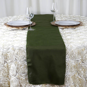 "12""x108"" Moss/Willow Polyester Table Runner"