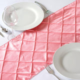 Table Runner Pintuck - Rose Quartz