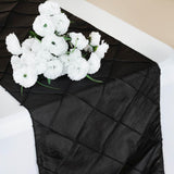 Table Runner Pintuck - Black