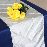 Table Runner Pintuck - Ivory