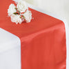 "12"" x 108"" SATIN Runner For Table Top Wedding Catering Party Decorations - Coral"