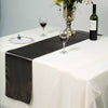 "12""x108"" Charcoal Grey Satin Table Runner"