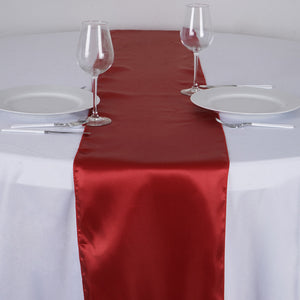 "12""x108"" Wine Satin Table Runner"