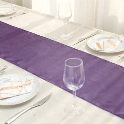 "12""x108"" Amethyst Satin Table Runner"