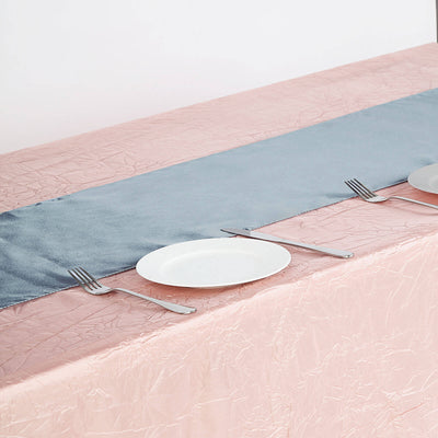 "12""x108"" Dusty Blue Satin Table Runner"