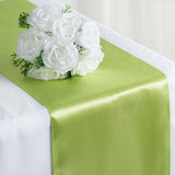 "12""x108"" Apple Green Satin Table Runner"