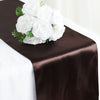 "12""x108"" Chocolate Satin Table Runner"