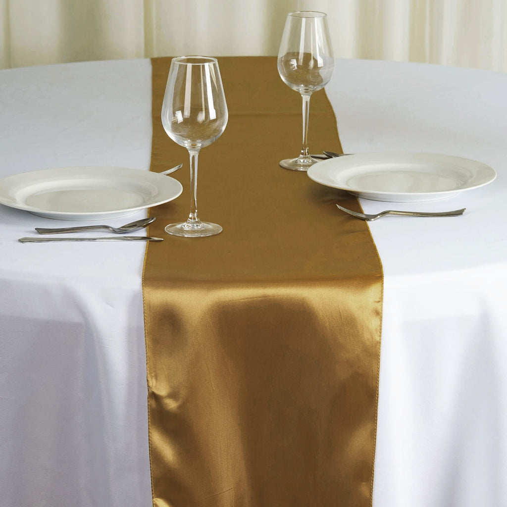 Satin Table Runner Gold Tablecloths Factory