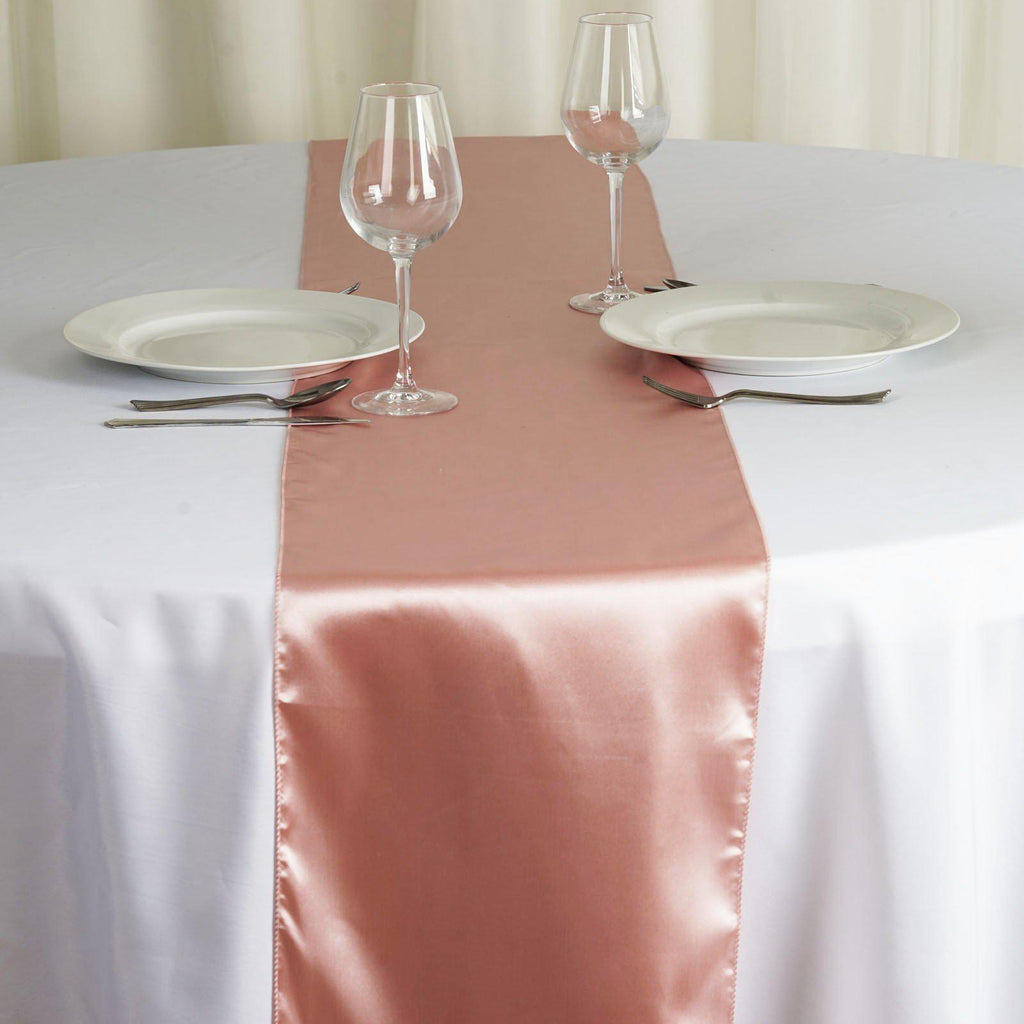 Satin Table Runner Mauve Tablecloths Factory